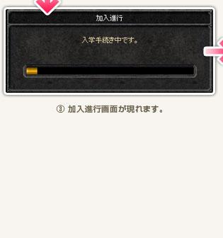 (3)加入進行画面が現れます。